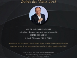 Lundi 29 janvier 2018, soirée des voeux de Val de Lys Entreprendre